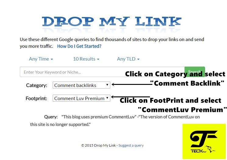 Using DropMyLink.com for CommentLuv and KeywordLuv