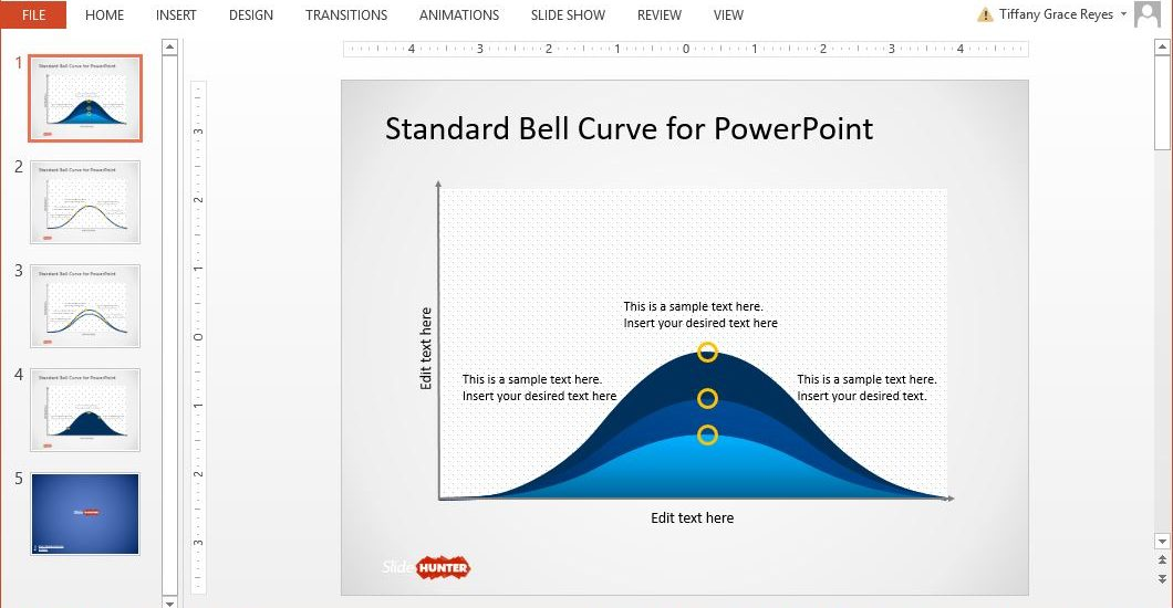bell curve powerpoint template - slidehunter top powerpoint resource for free