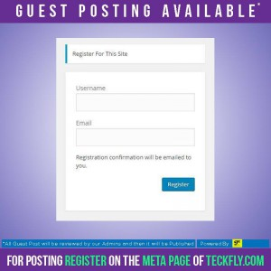 TeckFly-Guest Posting Available! from now Write For us