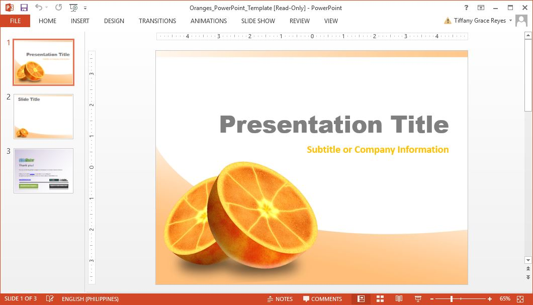 orange-fruits-powerpoint-template free presentations templates