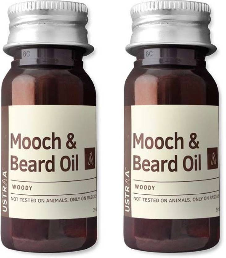 Ustraa By Happily Unmarried Mooch & Beard Oil (Set of 2)